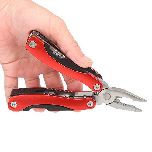 KAKAKE Alicates de Cuchillo de Bolsillo, alicates de Cuchillo Plegable de múltiples Funciones portátiles para Acampar para Pescar