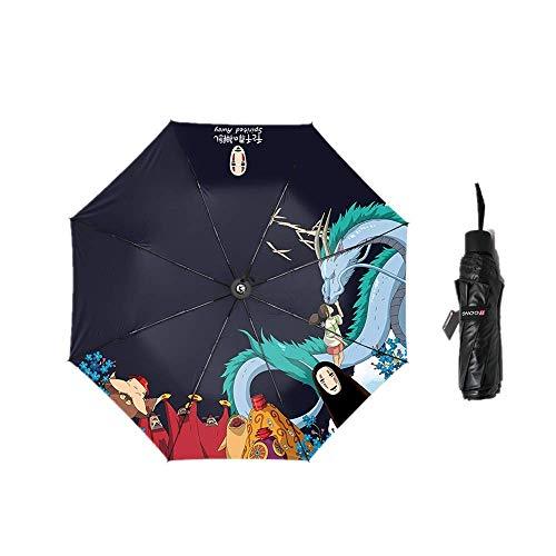 Faltbare Regenschirme Regenschirm Anime Cartoon Eleventh Palace Faltender Kleiner Frischer Regen und Regen Regenschirm mit Doppeltem Verwendungszweck Zwei Yuan Tausend und Anthologie Anime Regenschir