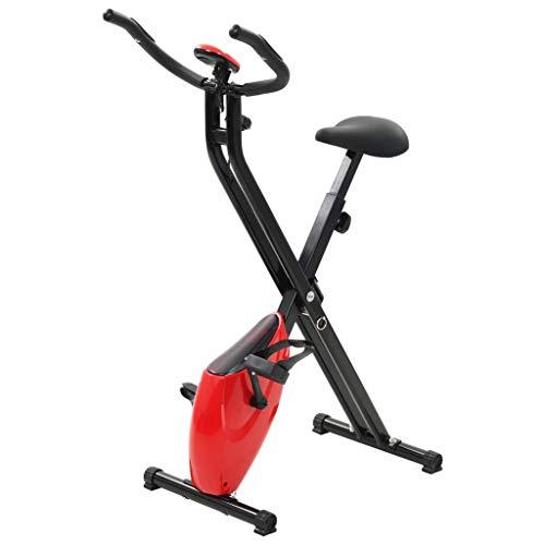vidaXL Cyclette Magnetica X-Bike Misurazione Polso Nero Rosso Cardio Fitness