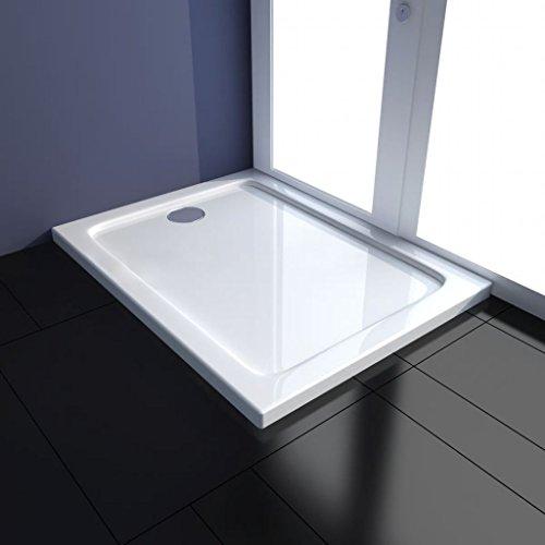 UnfadeMemory Duschwanne ABS Duschwannenboden Rutschfeste ABS-Duschtasse Badezimmer Zubehör Robuste ABS-Konstruktion mit Glasfaserverstärkung Niedrige Schwelle (70 x 90 cm, Weiß)