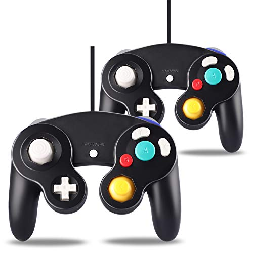 2 Pack Controller for Gamecube, Classic Wired Controllers for Gamecube and Wii Console, Gamepad Joystick Remote for Nintendo