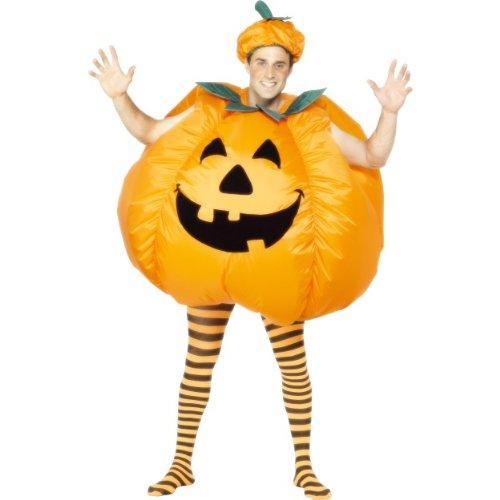 Smiffys Halloween Herren Kostüm Kürbis aufblasbarer Bodysuit als Pumpkin