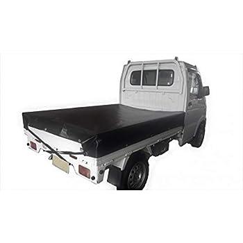 トラックシート ブラック 1号 1.9m×2.1m エステル帆布 軽トラシート 軽トラック 荷台カバー