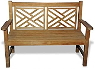 GOLDENTEAK Teak Bench Chippendale 4ft