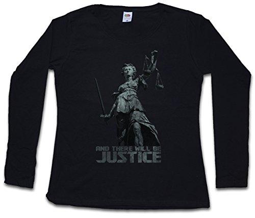 JUSTITIA I Damen Langarm T-Shirt Größen XS - 2XL