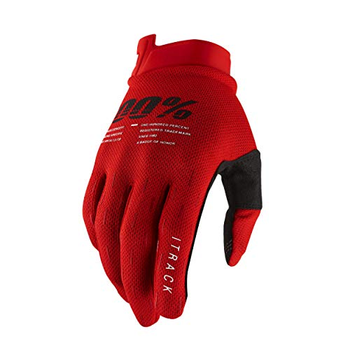 100% iTrack Motocross und Mountainbike Handschuhe (XXL – Rot) MX MTB & Motorsport Racing Schutzausrüstung – Extra Large