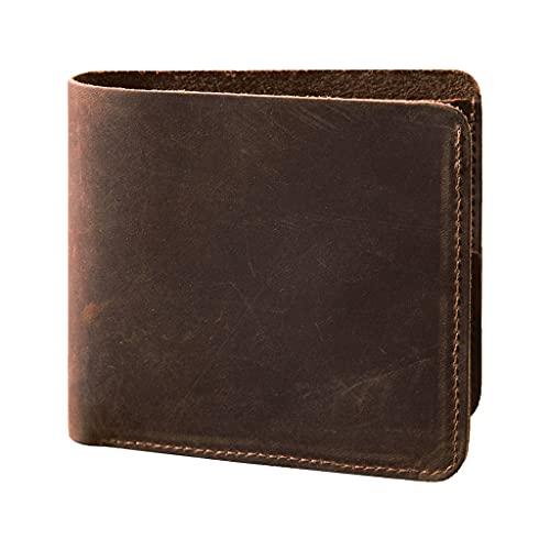 GDSSX Carteras para Hombres Slim Hombre Cartel Minimalista Bolster Biflet Bifollets Minimalista (Color : Brown)