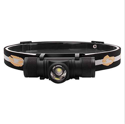 Casque de Chargement USB Phares à Del Alliage d'aluminium Zoom Étanche Convient aux Lampes de Poche extérieures