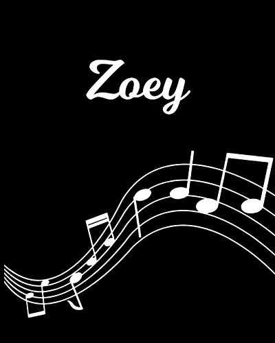 Zoey: Sheet Music Note Manuscript Notebook Paper – Personalized Custom First Name Initial Z – Musician Composer Instrument Composition Book – 12 … Guide – Create Compose & Write Creative Songs