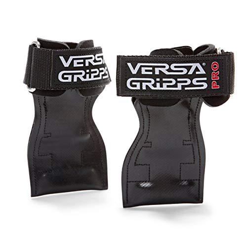 Versa Gripps PRO パワーグリップ 筋力トレーニング・リストラップ made in the USA (Black/黒, R/L:18.1-20.5cm)