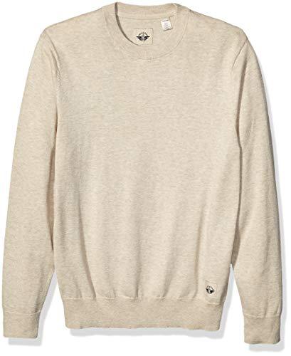 Dockers Men's Long Sleeve Crewneck Sweater, Oak Heather, XX-Large