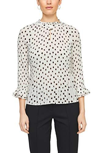 s.Oliver BLACK LABEL Damen Bluse 3/4 Arm Soft White dots 36