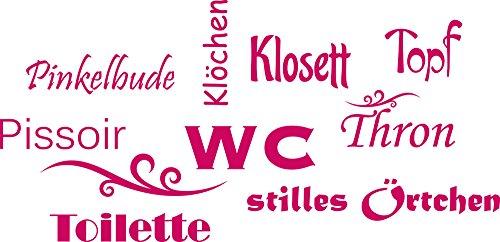 GRAZDesign 650160_30_041 Wandtattoo Wand-Worte WC Topf Klosett Thron - lustig | WC/Toilette | Badezimmer-Wände mit Aufkleber Gestalten...