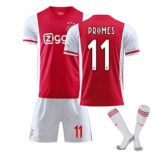 SUNY Sevilla Fútbol Club 20/21 Home/Away Game No.11 Quincy Promes Fußball Trikot Herren Kurzarm Sportswear Set Männer Schnell Trocknend Laufendes T-Shirt,4,S