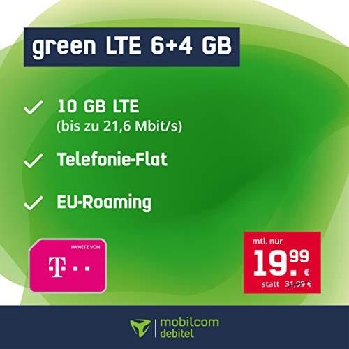 Handyvertrag green LTE 6 GB - Internet Flat, Allnet Flat Telefonie in alle Deutschen Netze, EU-Roaming, 24 Monate Laufzeit