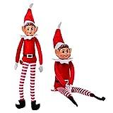 Duendes Que se comportan Mal - Juguete de Felpa Suave con Patas largas de 12 Pulgadas Elf - Juguetes de Navidad novedosos