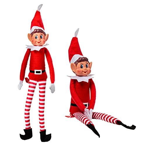 Elfi che si comportano male - Peluche da elfo con gambe lunghe 12 pollici - Novità giocattoli di Natale - Ragazzo o ragazza scelti a caso