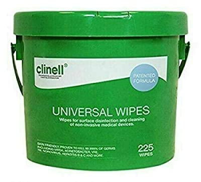Clinell - Universal Sanitising Wipes - 225 (bucket) by Gama Healthcare