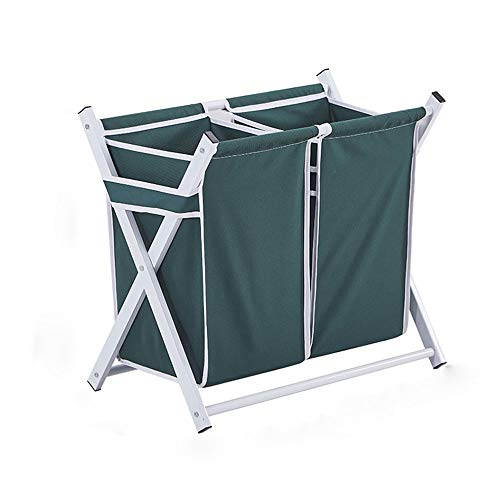 Grande Panier à Linge Toile, Trieuse de Linge Sale Rangement Facile Folding Portable Ménage Essentials Dortoir de collège-E 33x60x60cm(13x24x24inch)