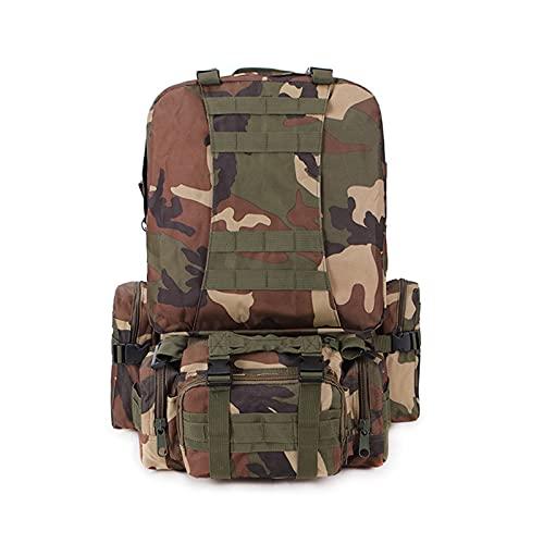 CNBPLS Tactical Army Zaini Zaino, Impermeabile Mimetico Zaino Tattico, Per Arrampicata All'aperto,3,One Size