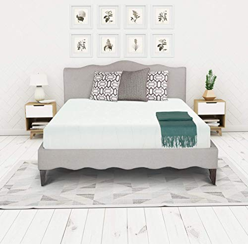 Irvine Home Collection 8-Inch Gel Memory Foam Mattress, Medium-Firm, Temperature Balanced Bed in a Box, Queen, white