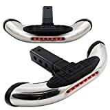 EPARTS Universal Ram SUV Pickup Truck Chrome Rear Heavy Duty Trailer Tow Towing Bumper Hitch Step Bar with LED Brake Light
