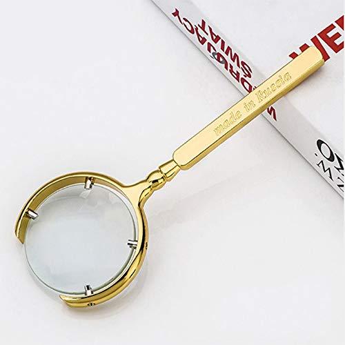 Lupe Handheld Antikschmuck Gold/Silber/Bronze Metall 50MM Schmuck Lupe,Gold