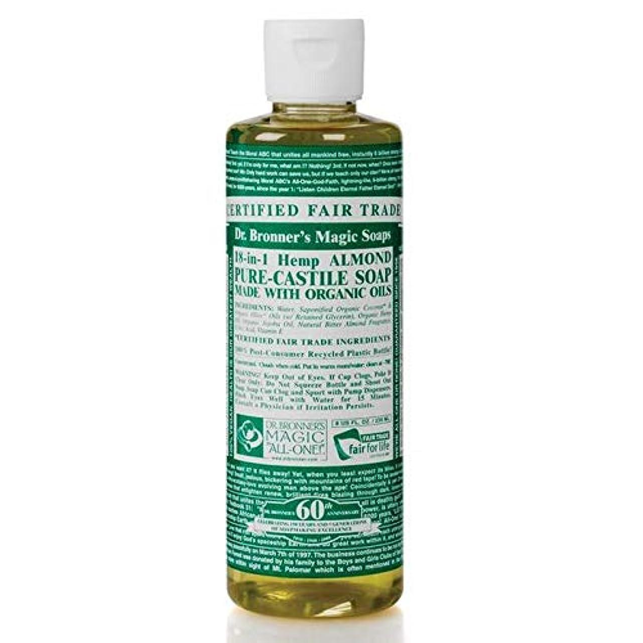 みがきます脱臼するみがきます[Dr Bronner] Dr。ブロナーズ有機アーモンドカスティーリャ液体石鹸473ミリリットル - Dr. Bronner's Organic Almond Castile Liquid Soap 473ml [並行輸入品]