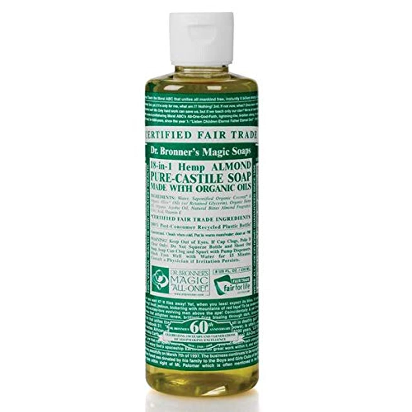 絶対のご注意釈義[Dr Bronner] Dr。ブロナーズ有機アーモンドカスティーリャ液体石鹸473ミリリットル - Dr. Bronner's Organic Almond Castile Liquid Soap 473ml [並行輸入品]