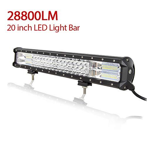 Barra LED Fuoristrada, Willpower Barra Luce a Led 51cm 288W Combinazione di Fascio Spot e Fascio...