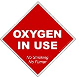 No Smoking Oxygen In Use Static cling - 5 PACK