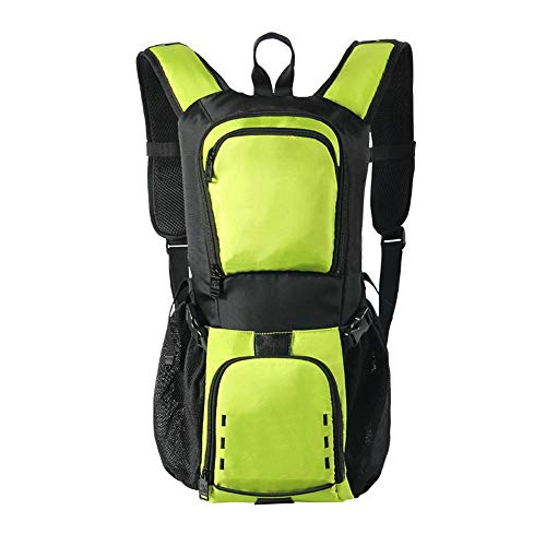 YANG1MN Outdoor Cycling Backpack/Men's/Ladies Backpack/Mountain Bike Warning Light Backpack (Color : Green)