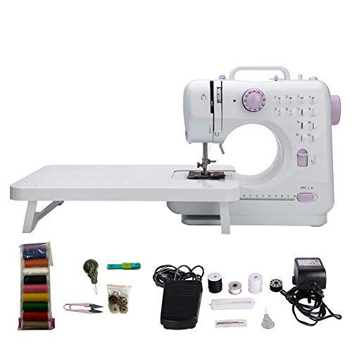 Máquina de coser, máquina de coser, 12 patrones de puntadas integrados, tipo doméstico 505A, para principiantes profesionales, entusiastas del bricolaje, Plug