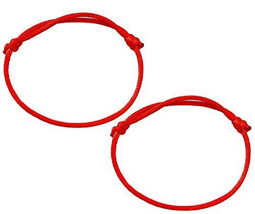 Coolrunner - Pulsera de Cuerda de la Buena Suerte Kabbalah (1 Pieza), Color Rojo Oscuro