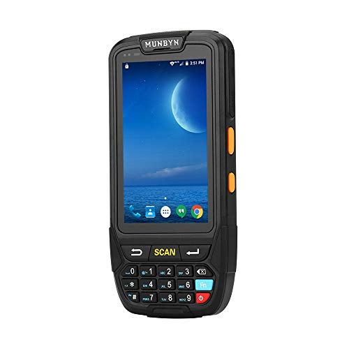 Android Scanner MUNBYN Rugged Handheld Mobile Terminal with Android 7.0, 2D QR PDF417 Honeywell Imager Reader, Numeric Keypad, Touch Screen Support 4G WiFi BT GPS for Warehouse Management System 3d barcode scanner