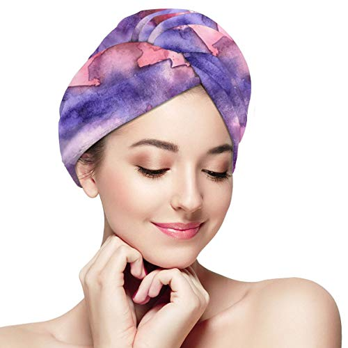 Face Covered Eyes Closed Girl Microfiber Dry Hair Cap for Bath Spa Soft Super Absorbent Quick Drying Towel Wrap Wet Hair Turbans 11¡± X 28¡±