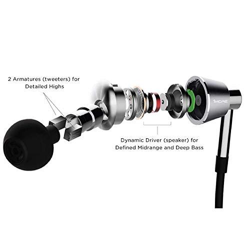 1MORE Triple Driver Ecouteur intra-auriculaire très haute résolution triple driver Casque avec...