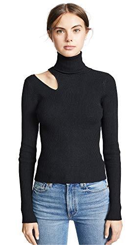 ASTR the label Women's Vivi Sweater, Black, Medium
