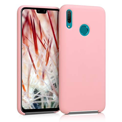 kwmobile TPU Silicone Case Compatible with Huawei Y9 (2019) - Soft Flexible Rubber Protective Cover - Rose Gold Matte