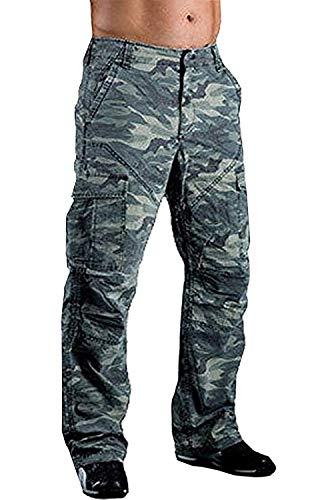 Juicy Trendz Herren Motorradrüstung Biker Motorrad Denim Hose Jeans Trousers S016, Camouflage, W34-L34