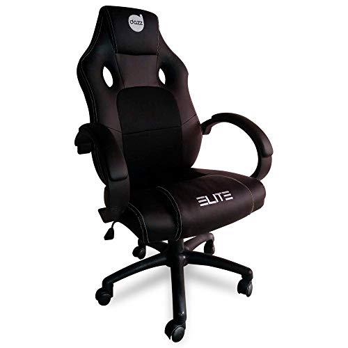 Cadeira Gamer Dazz Elite Com Apoio de Braço - Preto