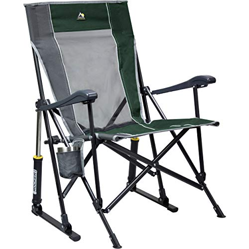 GCI Outdoor RoadTrip Rocker Outdoor Rocking Chair, Hunter