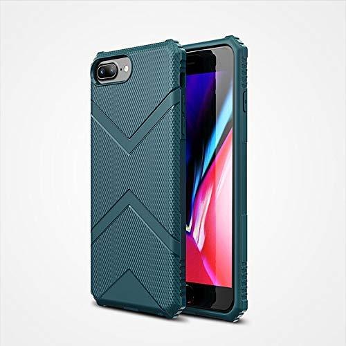 Personalidad Funda para teléfono compatible con iPhone 6 Plus / 7 Plus / 8 Plus (5,5 pulgadas), diseño de moda Armor TPU Funda protectora a prueba de golpes (Color: Azul)