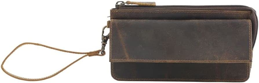Myra Bag Perfect Tan Leather Wallet Upcycled Leather S-2731