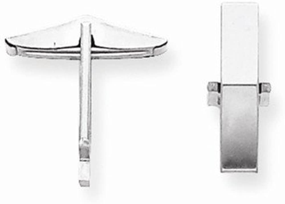 FB Jewels Solid 18K White Gold Cuff Link Setting