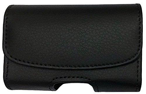 Classic Premium Pouch Case with Belt Clip for Tandem Insulin Pump (All Models: t:Slim/t:Slim G4 / t:Slim X2 / t:Flex) - SNK Retail Packaging (H1/Black)