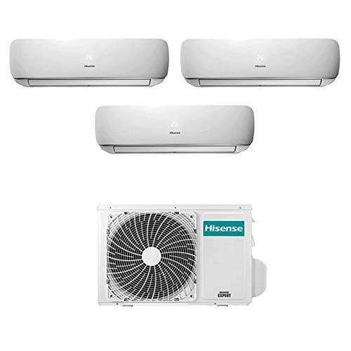 Condizionatore Climatizzatore Trial Split Inverter Hisense Mini Apple Pie 9000+9000+12000 9+9+12 Btu A++ 3AMW58U4SZD1