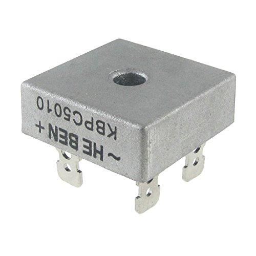 TOOGOO(R) Rectificador de puente de diodo monofasico 50A 1000V KBPC5010 Nuevo