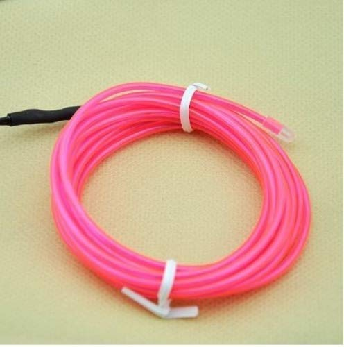 Amicc El Wire 5m 15ft Pink Neon Light Neon Glowing Strobing...