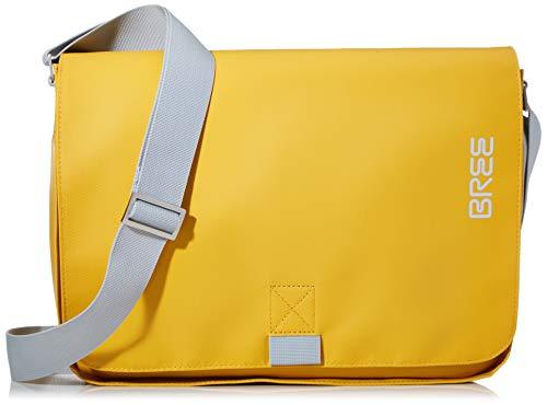 BREE Unisex-Erwachsene PNCH 62 shoulder bag Umhängetasche, Gelb (mayblob), 8x24x34 cm